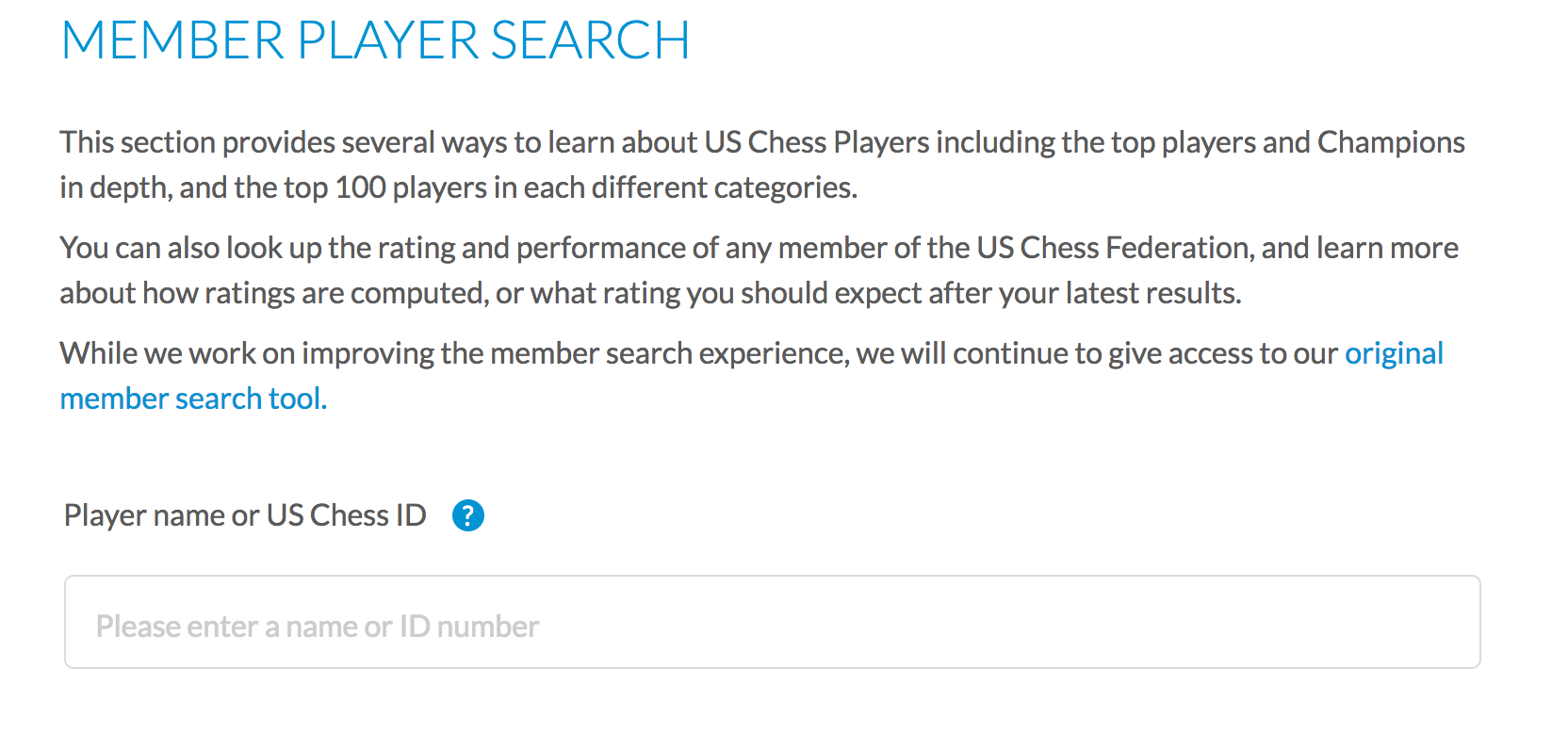 US Chess Federation ID